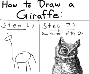 How to draw a giraffe in 2 steps