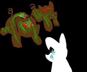 evil zombie boars kill dog