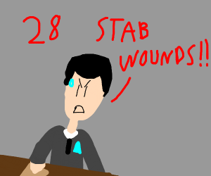 28 STAB WOUNDS