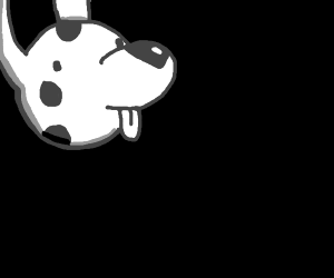 The moon but it's a dog
