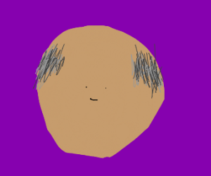 Determined Bald Guy With A Tiny Face