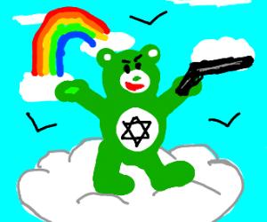Judaism Care bear Has A Gun