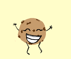 A very happy cookie