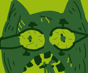 Detailed horrific Garfield