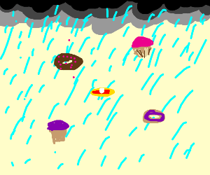 Pastry rain