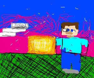 Steve facing away from sunset?
