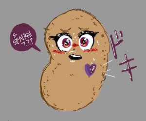 Potato-Chan sees senpai
