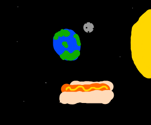 hotdog in space