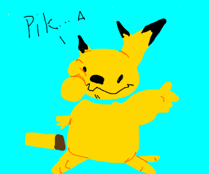 An amalgamation of pikachu