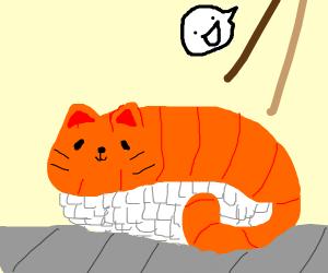 kawaii sushi cat