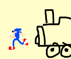 Sonic is killed by train