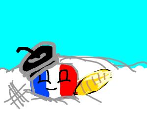 Franceballs in the snow