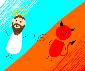 Jesus Fights The Devil