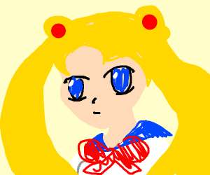 sailor moon with huge eyes