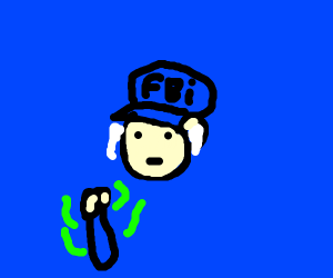 FBI Agent with airpods holding smthing smelly
