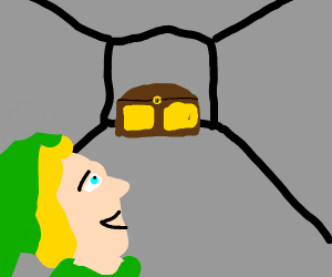 Link finds a Chest