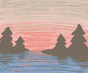 View of a sunset on a lake