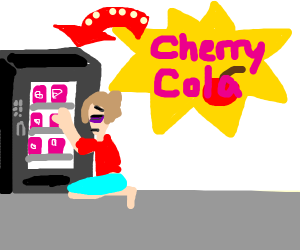 tired girl wants a cherry cola