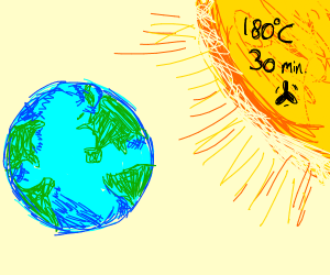 Heating the Earth like an hoven