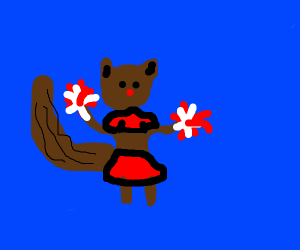 Cheerleader squirrel