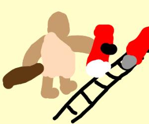 Troll derails train