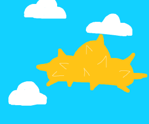 Spikey Yellow cloud