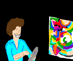 Bob Ross goes through abstract phase
