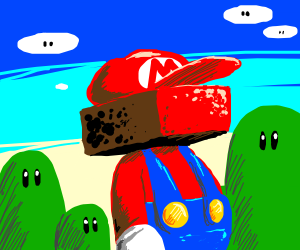 What if Mario had a brick instead of his head