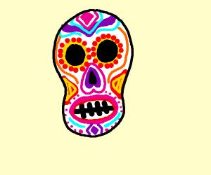 Multicolored skeleton.