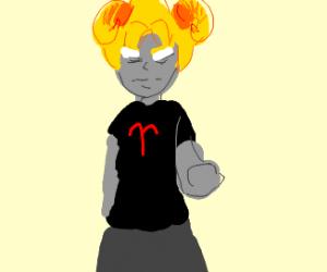 Super Saiyan princess with horns