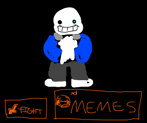 undertale character hitting you with slides