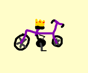 Purple bike is king