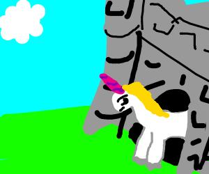 Unicorn in a Castle