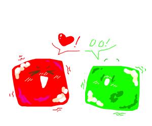 red cube guy loves green cube girl