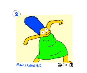 Marge in a Drawception panel
