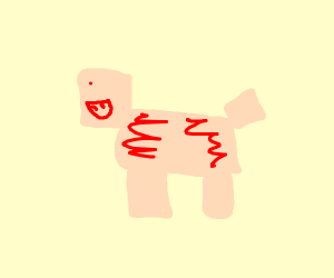 minecraft pig but as a nether demon