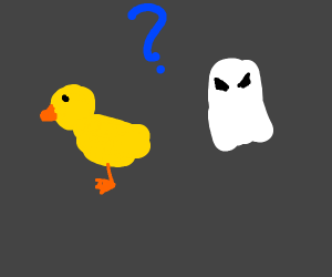 Is it a duck or a ghost?