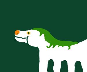 White horse dog thing