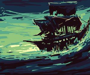 A spooky ship