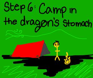 Step 5: A dragon eats them