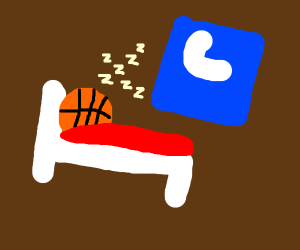 basketball is tired