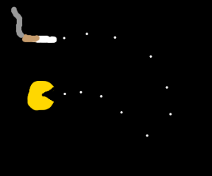 Pacman eats tobacco