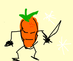 A carrot with mysterious properties