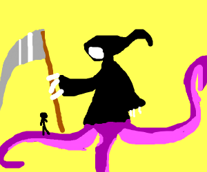 grim reaper with WaCKy TEntAcLe lEgS