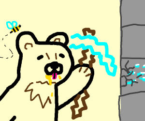 bear plays minecraft