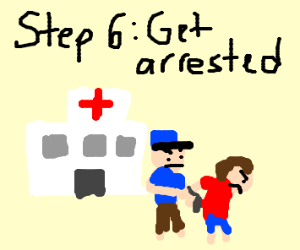 Step 5: he's ok, so punch the nurses and Drs