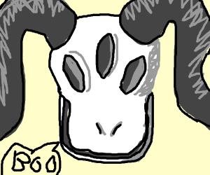 Three-eyed demon says Boo.