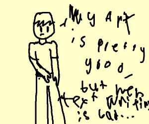 ART GOOD. TEXT BAD.