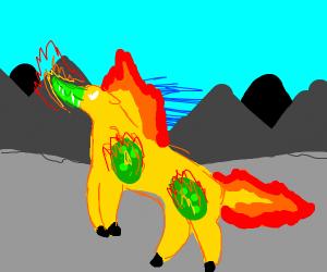 mountain fire horse turns into crocodile