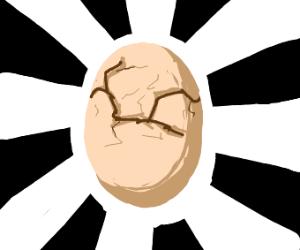 cracked open egg